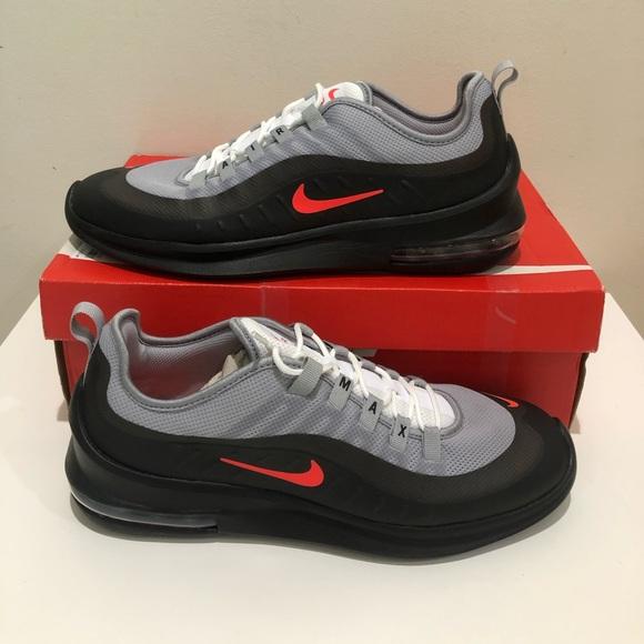 Nike Air Max Axis Wolf GreyTotal CrimsonBlack   Mens Grey